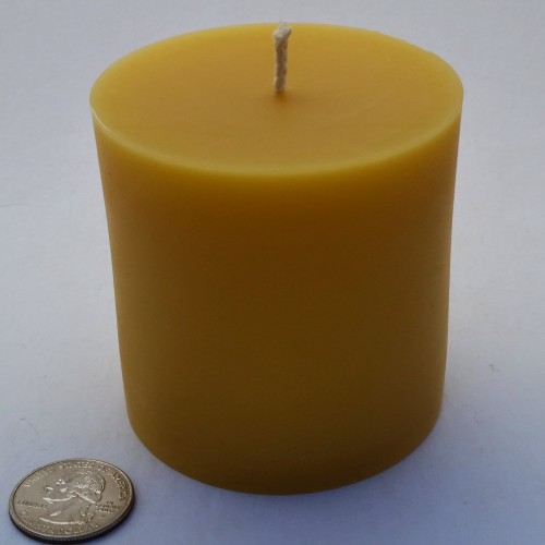 BZ Honey - This pillar candle provides natural light from a flicker free flame.