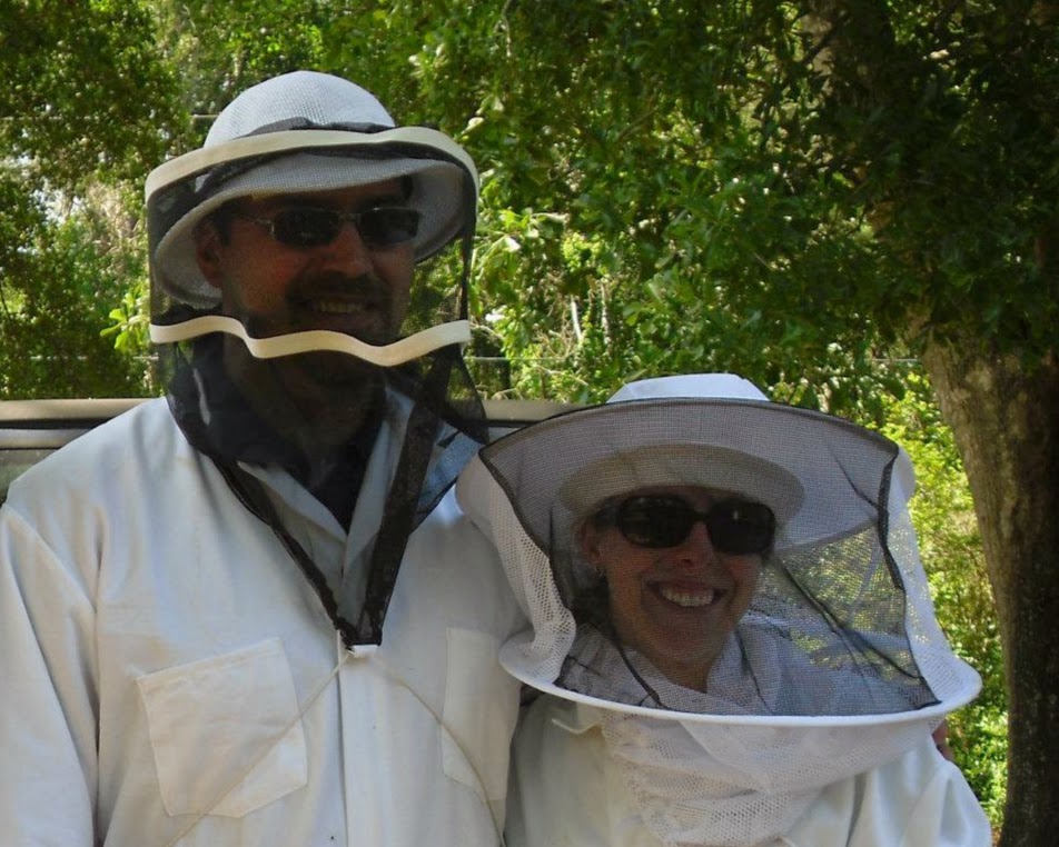BZ Honey - Matt and Kelly, after installing their first two hives of bees.