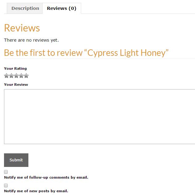 BZ Honey - We want your feedback!